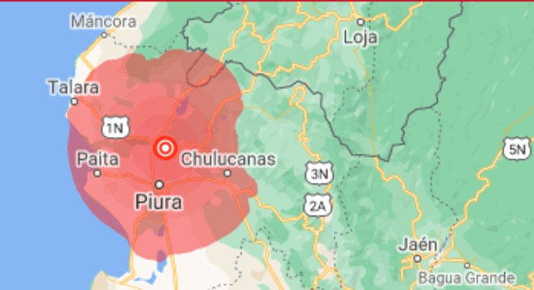 Terremoto de magnitude 6,1 sacode a costa norte do Peru