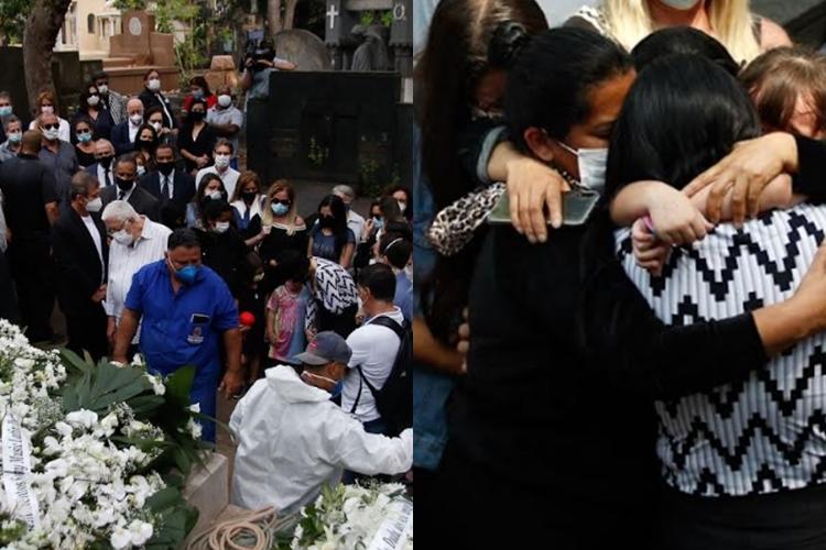 Corpo de filho de Roberto Carlos, Dudu Braga, é enterrado em São Paulo